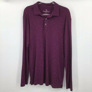 Tommy Bahama Long Sleeve Polo Shirt Mens Large